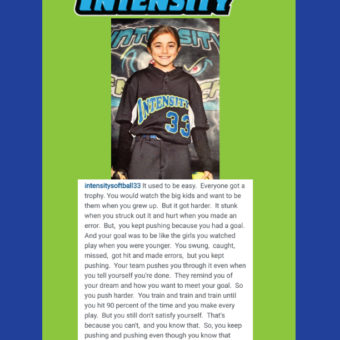 A Message from Cassidy Relay of Intensity 12U MK
